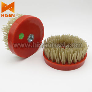 """Professional 4"""" Diamond Round Brush for Making Leather Surface pictures & photos"""