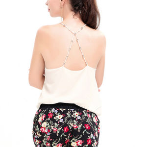 Fashion Women Chiffon Sleeveless Blackless Vest Clothes Blouse pictures & photos