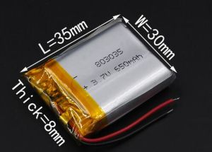 3.7V 950mAh Rechargeable Li Polymer Li-ion Battery for Bluetooth Headset MP3 Speaker Recorder Wristband 083035 803035 pictures & photos