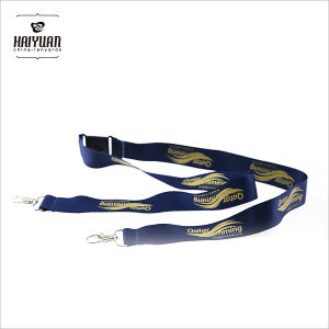 Heat Transfer Smooth Polyester Lanyard with Silk Screen Printing pictures & photos