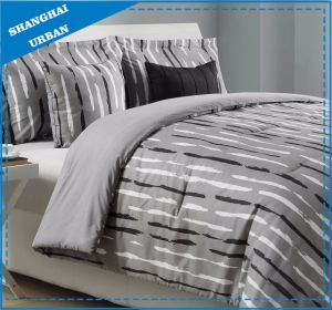 Modern Straight Line Design Duvet Cover Cotton Bedding Set pictures & photos
