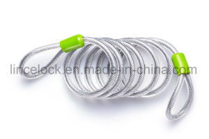 Duty Security Cable, Vinyl Coated Braided Steel with Sealed Looped Ends pictures & photos