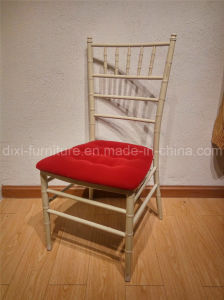 Wedding Iron Chiavari Chair with Fixed Seat Cushion pictures & photos