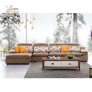 Fashion Fabric Sofa with Adjustable Headrest (975B)