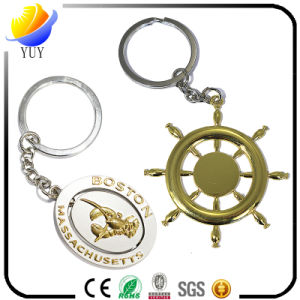 Slap-up Round and Sun Shape Metal Key Chain with Gold Plating pictures & photos