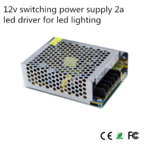 12V 25W 2A LED Driver for LED Lighting Switching Power (S-24-12) pictures & photos