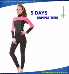 Woman′s Full Suit Cr Glide Skin Commercial Diving Wetsuit pictures & photos
