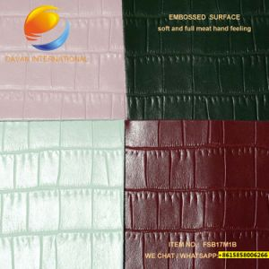 Best Price of PU Leather for Bag Fsb17m1b pictures & photos