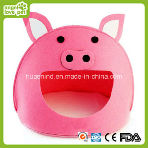 Pig Shape Felt Pet House Cave for Cat or Dog pictures & photos