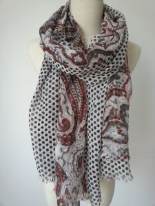 Wool with Cotton Fashoin Scarf for Women, Fashion Shawlfashion Accessries pictures & photos