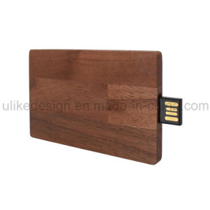Wooden Card Promotion Full Logo USB Flash Driver (UL-W022-1) pictures & photos
