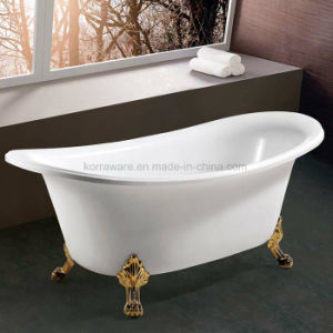 Freestanding Classic Bathtub in Golden Color (K1538) pictures & photos