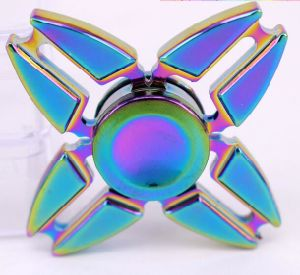 Wholesale High Quality R188 Bearing Rainbow Zinc Alloy Fidget Spinner with Plating Color pictures & photos