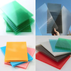 Lexan Resin Virgin Material Smoked Color Polycarbonate Hollow Sheet for Shopping Mall pictures & photos