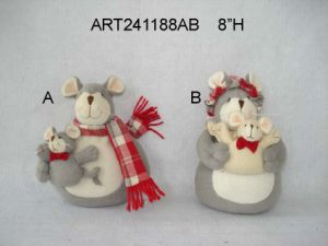 Button Legged Santa Snowman and Mouse, 3 Asst-Christmas Gift pictures & photos
