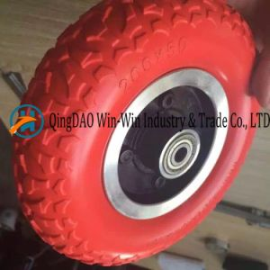 Flat Free PU Wheel for Power Wheelchair Front Wheel (200*50) pictures & photos