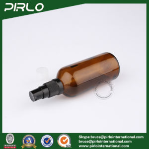 100ml Amber Glass Spray Bottles with Black Lotion Sprayer pictures & photos