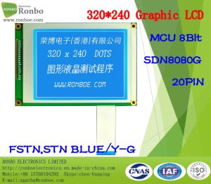 320X240 Graphic LCD Monitor, MCU 8bit, Sdn8080g, 20pin, COB Stn LCD Panel pictures & photos