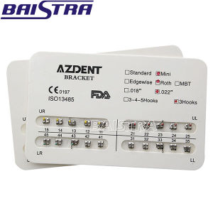 Orthodontic Dental Metal Bracket with No Hooks Dental Braces pictures & photos