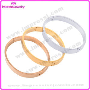 Plain Round Openale Stainless Steel Engravable Bangle pictures & photos