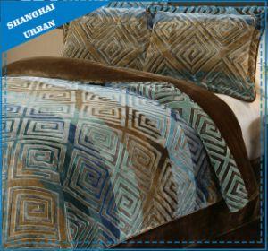 Color Patchwork Design Soft Flannel Blanket Set Home Textile pictures & photos