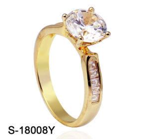 Wholesale Fashion Minimalist 925 Sterling Silver Jewellery Cubic Zirconia Wedding Ring for Girl pictures & photos