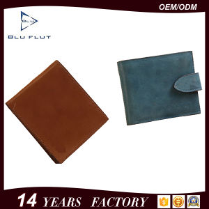 Pure Oil Wax Leather Tab Wallet Pouch Money Clip Purse pictures & photos