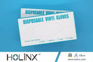 Vinyl Disposable Powder Free Examination Gloves pictures & photos
