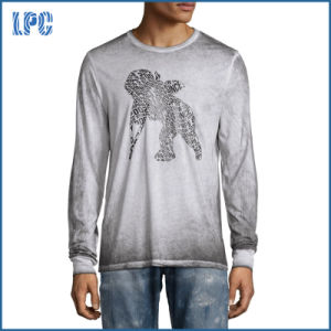 Dyed Long Sleeve Vintage Mens T-Shirt pictures & photos