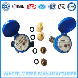 Dn15mm Dry Dial Single Jet Brass Water Meter pictures & photos