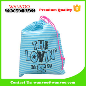Portable Waterproof Polyester PVC Drawstring Gift Bag for Packing pictures & photos