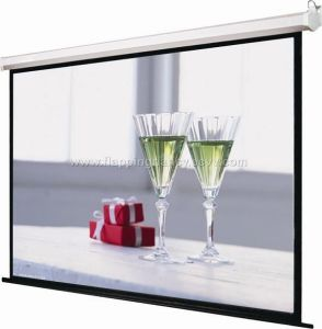 Tab Tensioned Motorized Projection Screen pictures & photos