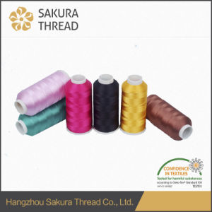 Sakura Polyester Yarns with Excellent Gloss for High Speed Computer Embroidery Machines pictures & photos