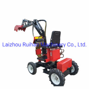 Mini Digger Excavator Loader Tractor with Continued 360 Rotation