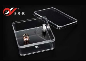 Square Shape Jewelry Plastic Box with Cover pictures & photos