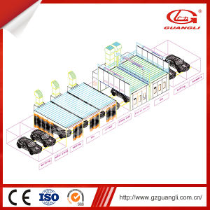 Ce Approved Double-Bays Line Car Care Equipment Car Body Powder Coating Line (GL-L4) pictures & photos