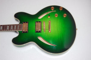 Green Color Plywood Cheap Price Jazz Guitar