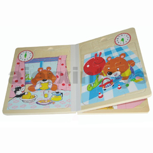 Wooden Clock Book for Learning Time (80891) pictures & photos