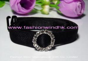Elastic Bra Strap (FFW004) , Fabric Bra Strap with Round Jewelry