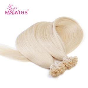 Blonde Color 7A Grade Brazilian Hair U Tip Hair Extensions Keratin Human Hair pictures & photos