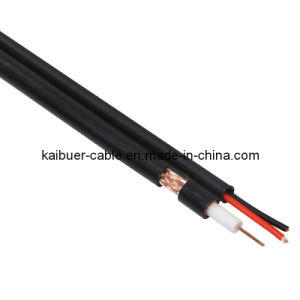 Factory Price CCTV/Catc Dual Siamese Rg59b/U Coaxial Cable with Power pictures & photos