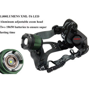 High Power Waterproof CREE T6 LED 1000lm Headlamp Bicycle Camping Head Light Lamp pictures & photos