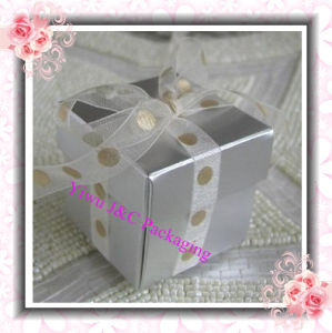 2PC Shiny Silver Wedding Favor Boxes (JCO-115E)