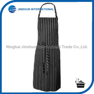 Simple Black and White Striated Bib Apron pictures & photos