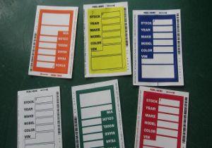 Standard Size Window Stock Stickers