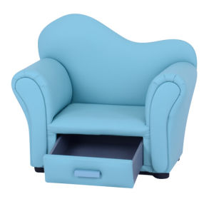 Curved Back Kids Drawer Sofa Storage Chair/Children Furniture (SF-29-02) pictures & photos
