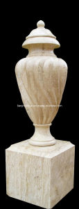 Stone Flower Pot on Pedestal Marble Urn (2720) pictures & photos