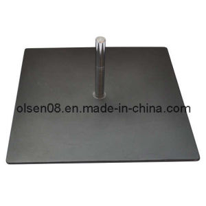40cm*40cm Black Iron Base Plate for Flagpole pictures & photos
