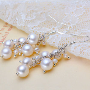 Fashion Real Freshwater Pearl Earrings pictures & photos