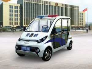 White 4 Seaters Police Electric Car pictures & photos